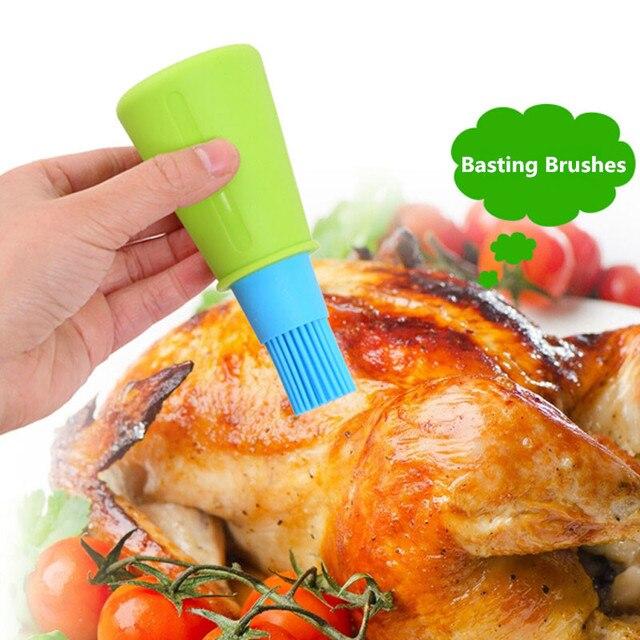 1 pc Griglia Bottiglia di Olio Pennelli Strumento Resistente Al Calore Del Silic