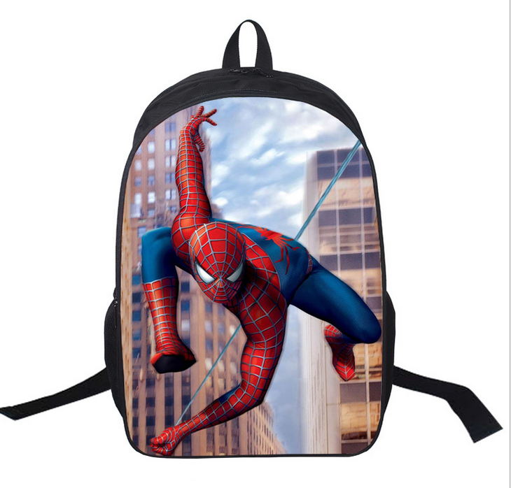 16 inch Super Hero Spiderman Kids Backpacks School Bags Primary Boy Mochila Children Backpack For Boys Teenagers
