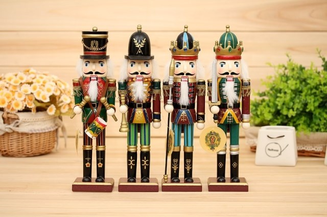 4Pcs Nut Cracker 30cm puppet christmas gifts Xmas action figure toys nightmare before christmas decorations for home supplies