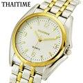 ThaiTime Relógios dos homens de Negócios de Luxo Masculino de Aço Inoxidável Relógio de Pulso de Quartzo TTM10