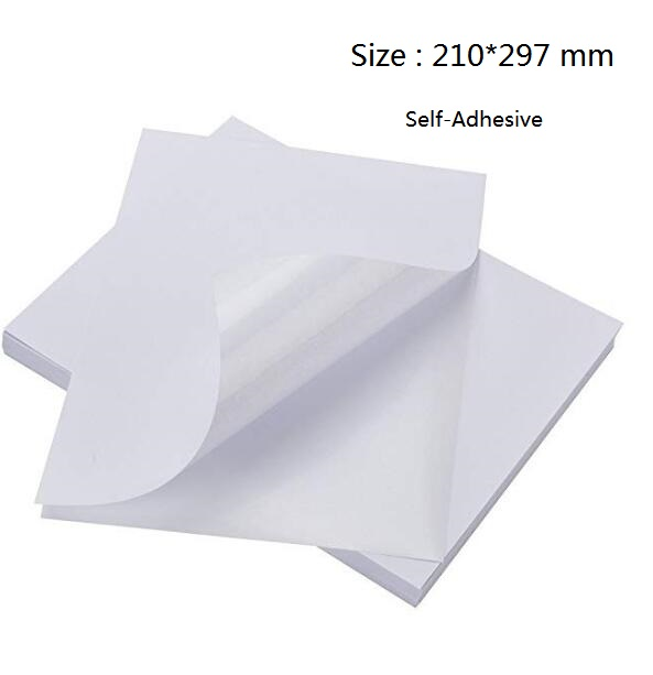 Size A4 White Glossy Self Adhesive Photographic Photo Paper For Inkjet Printer 2/10/30/50/80pcs You Choose Quantity