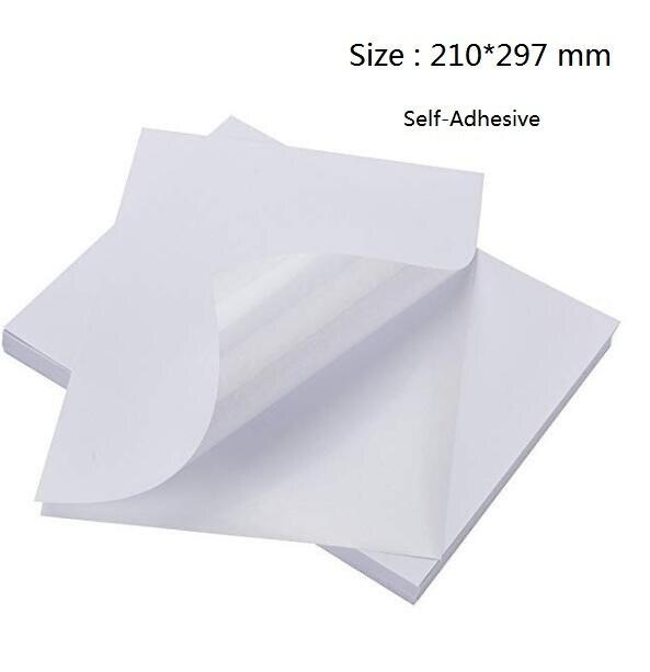 Size A4 White Glossy Self Adhesive Sticker Label Sheet Sticky Photo Paper For Inkjet Printer 2/10/30/50pcs You Choose Quantity