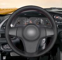 Black Artificial Leather Car Steering Wheel Cover for Chevrolet Niva 2009 2017 (3 Spoke)