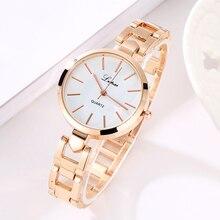 Women Luxury Bracelet Watch LVPAI Fashion Brand Rose Gold Quartz WristWatches Ladies Dress Sport Watch Clock Electronic LP106