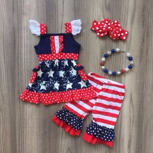 4th of July Sister Matching Clothing Set