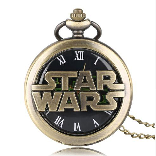 Marvel Star Wars Pocket Watches Yoda Darth The Force Awakens Anime Gifts For Chi