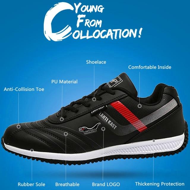 ZENGVEE Casual Shoes Men Super Star Summer Massage Wear-resisting Solid Lace-Up Waterproof PU Shoes Breathable Men Shoes