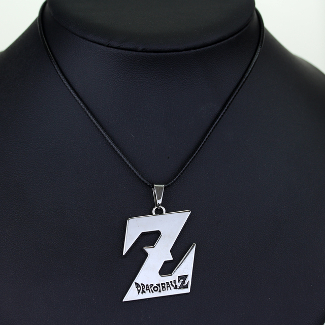 Dragon Ball Z Charm Silvery Logo Pendant Necklace