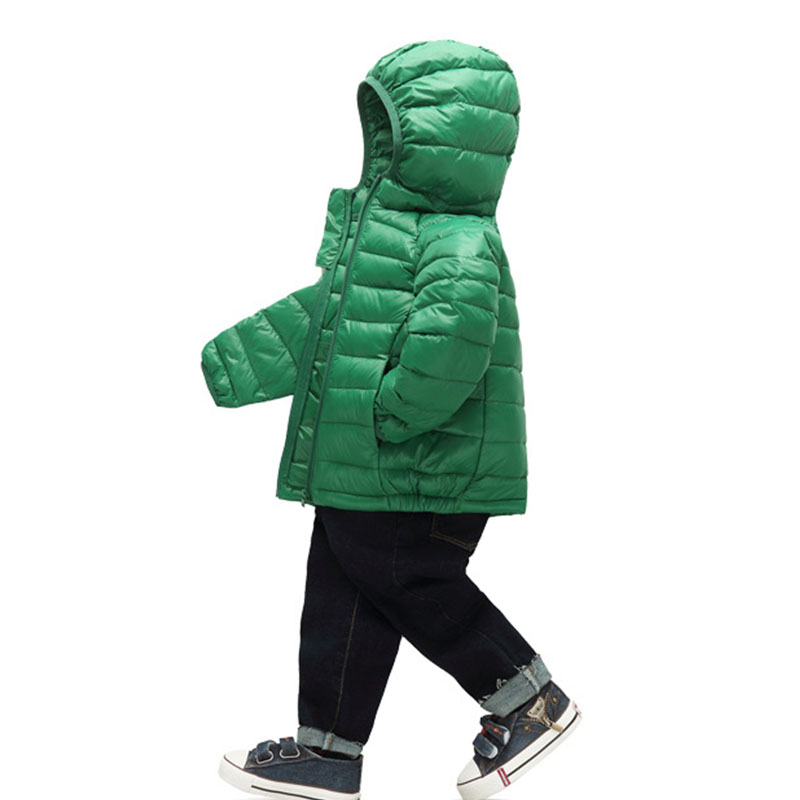 f65c1418b23b white duck down winter jacket for girls children hooded down light ...