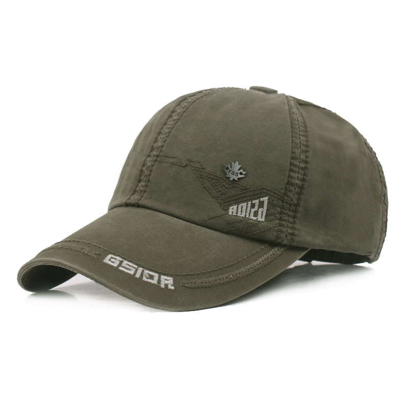 Men's Hat Fashion Cotton Baseball Cap Travel Big Eaves Couple Snapback Tongue Caps Male Bone Adjustable Size Climbing Hat Unisex