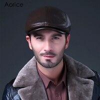 HL042 2 Newsboy Beret LBD BLACK Leather Style Flat Cap Hat Cabbie Gatsby Hunting Golf