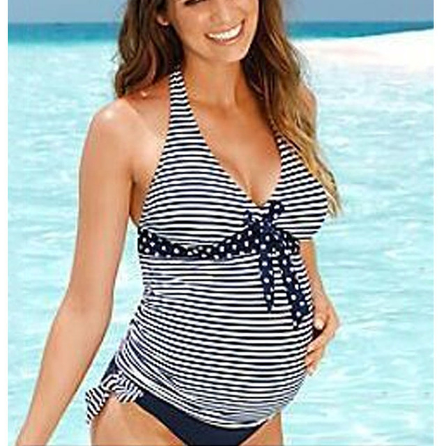6c03dc0b23 2019 New Summer Beach Wear Women Swimwear Maternity Bikini Plus Size Maxi  Costumes 2PCs Tankinis Set
