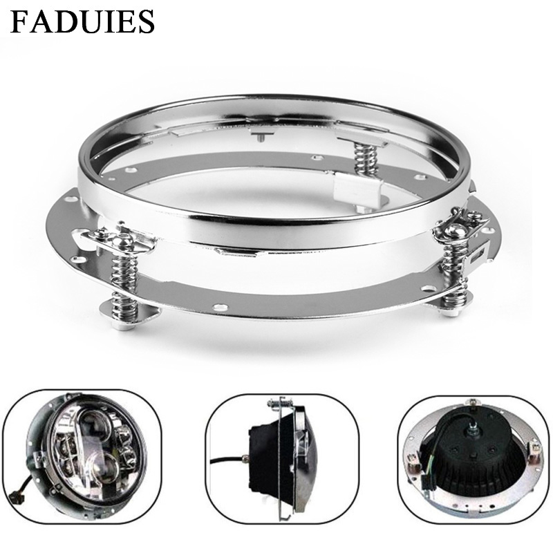 FADUIES 7 Inch Round Daymaker LED Headlight Mounting Bracket Ring For Jeep Wrangler JK Land rover defender Harley Motorcycle