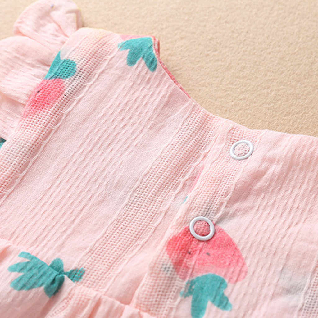 Комплекты для маленьких девочек платье с оборками и фруктовым принтом штаны PP повязка на голову одежда для малышей детская одежда костюм на день рождения для детей от 1 до 2 лет