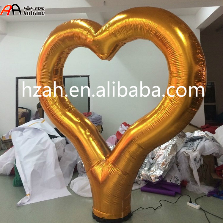 Giant Inflatable Gold Heart for Wedding Decoration giant inflatable balloon for decoration and advertisements