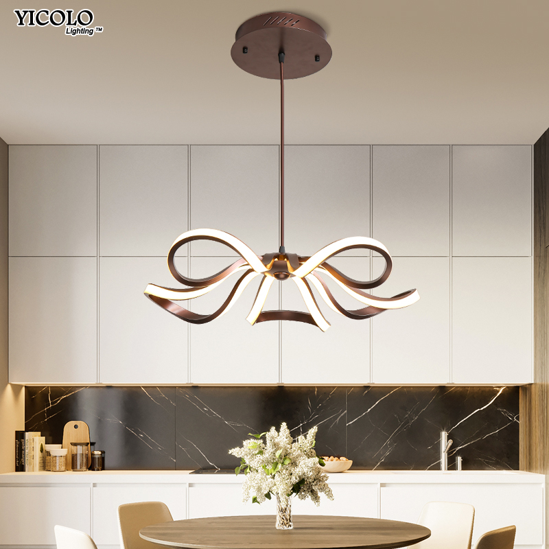 New LED Chandeliers For Living Room bedroom Dining room Chandelier surfaced mount or height adjustable Dimming lamps luminarias