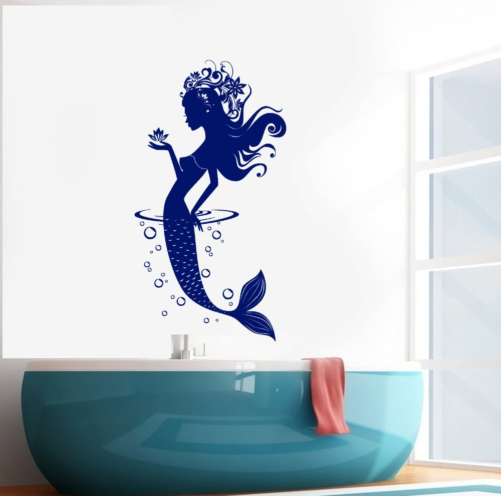 Salle De Bain Sol Marbre Noir ~ caract re sir ne bulles sticker mural pour salle de bains salon