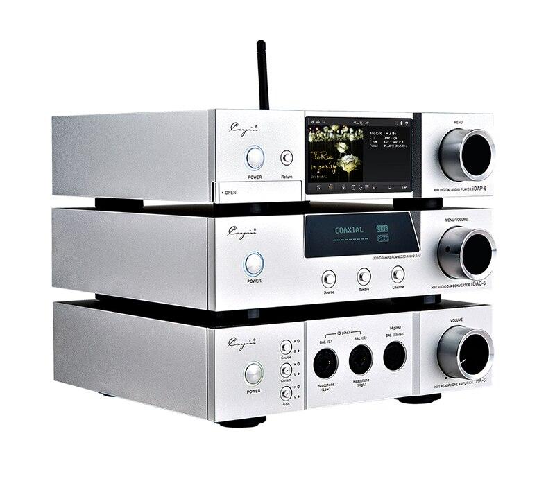 Cayin/iDAP-6/DAC-6/iHA-6 DAC & Headphone amplificador de tubo de Vácuo 6.35 milímetros, 3 pinos XLR, 4 pinos XLR fone de ouvido jogador de Desktop