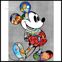 5D DIY full Square drill Diamond painting Cross stitch mouse Diamond embroidery Mosaic decor kids gift NEW715