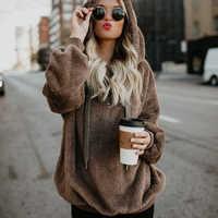 2018 chaud chandail à capuche femmes épais pulls femmes vêtements de plein air à manches longues femmes chandail surdimensionné pulls femmes Pull Femme