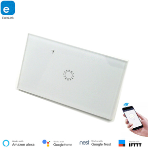 Image 1 - US Standard Type 120 WiFi Smart Switch Light Control  Glass Panel Touch Control eWelink App Work With Alexa Echo Google Home