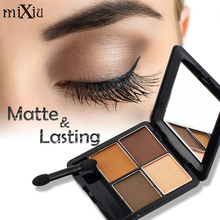 Professional 4 Colors Makeup Naked Matte Eye Shadow Palette Long Lasting Mixiu Brand Cosmetics Natural Matte Pigment Eyeshadow
