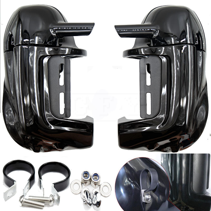 Lower Vented Leg Fairing with Hardware for Harley Touring Electra Glide Street Glide Road King Road Glide FLTR FLHT FLHR FLHX brand new mid frame air deflector trims for harley cvo limited road king electra glide street electra tri glide flhx 2009 2016