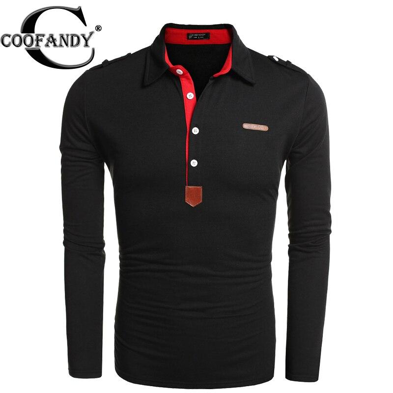 Coofandy men polo shirts new man autumn 2016 men 39 s long for Men s lightweight long sleeve polo shirts