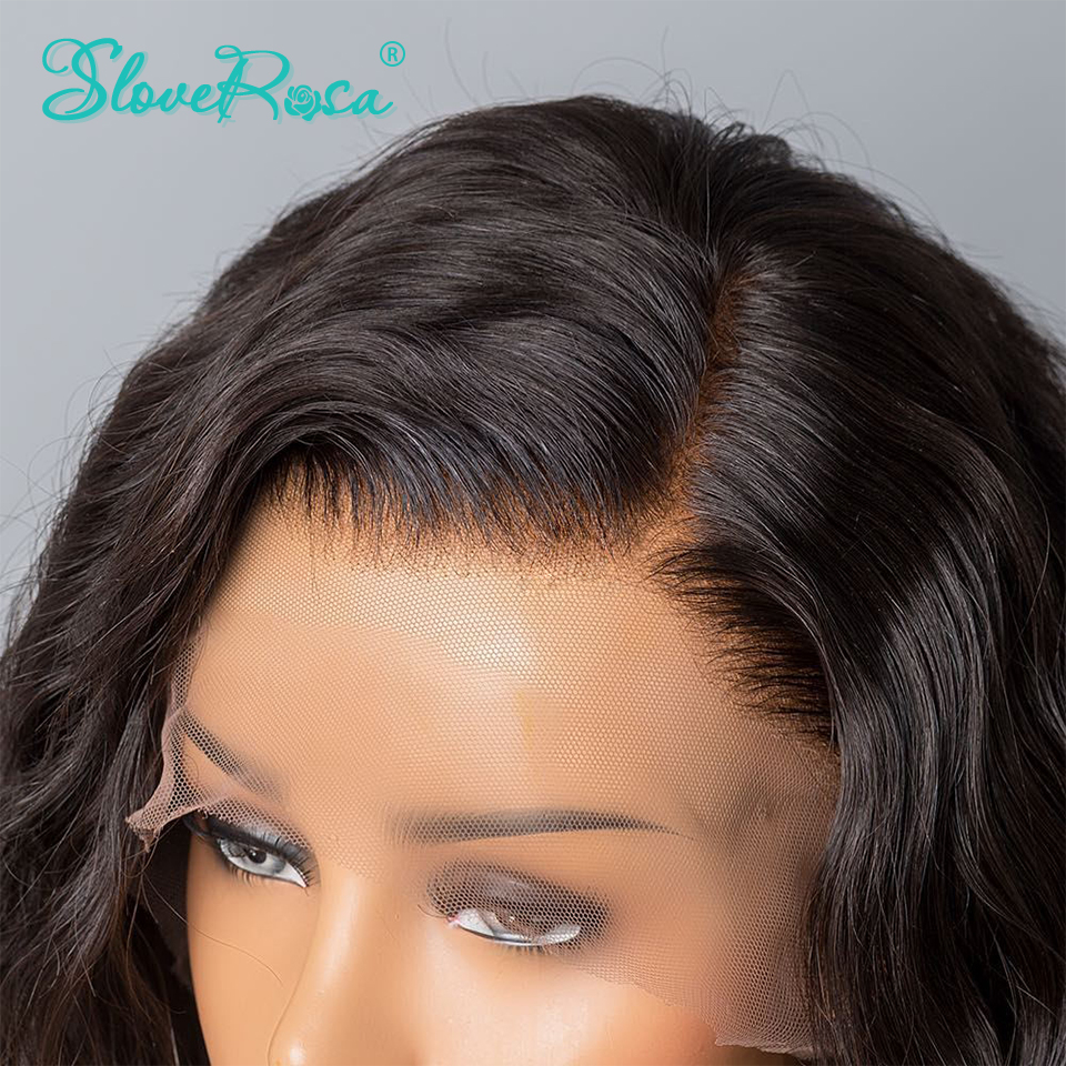 Image 2 - 13x4 Body Wave Brazilian Remy Hair Lace Front Human Hair Wigs For Black Women Pre Plucked Bleached Knots Baby Hair Slove Rosa-in Human Hair Lace Wigs from Hair Extensions & Wigs