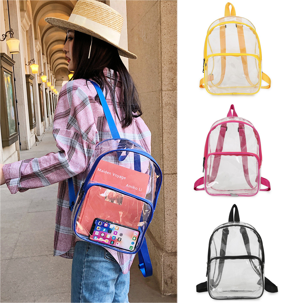 Women Transparent Versatile Sequins Fashion Multi-purpose Student Bag Girls Backpacks Shoulder Bag Female Student School Bags