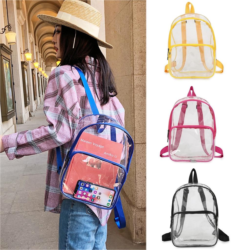 Women Transparent Versatile Sequins Fashion Multi-purpose Student Bag Girls Backpacks Shoulder Bag Female Student School Bags