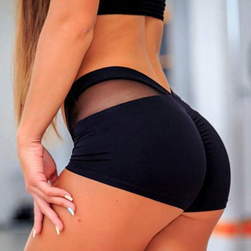 Women Sports Shorts Polyester Skinny Elastic Waist Gym Workout Waistband Skinny Short Pants 2019 Summer korean gift Drop Ship|Shorts| - AliExpress