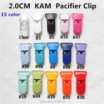 (15 color ) 150pcs Hot D shape 2.0CM  Kam plastic Baby Pacifier Dummy Chain Holder Clips Suspender Clip for 20mm ribbon - DISCOUNT ITEM  10% OFF All Category