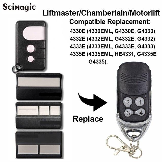 1 pçs chamberlain liftmaster 4335e 4335eml substituição controle remoto garagem portão chave fob motorlift g4335e 433mhz garagem remota