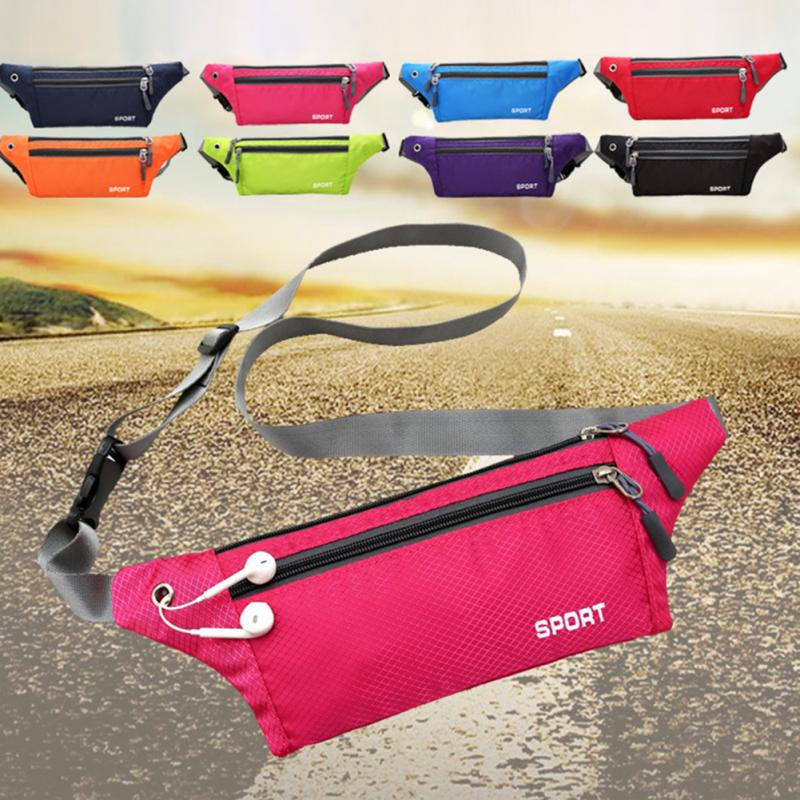 Waterproof Waist Pack For Men Women Carteira Fanny Pack Running Bag Hip Money Belt Travel Mobile Phone Bag  Top Quality