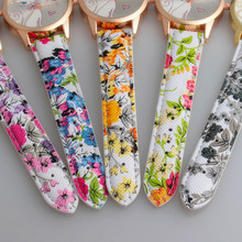 Cute and Colorful Women's Wristwatches with Cat Pattern
