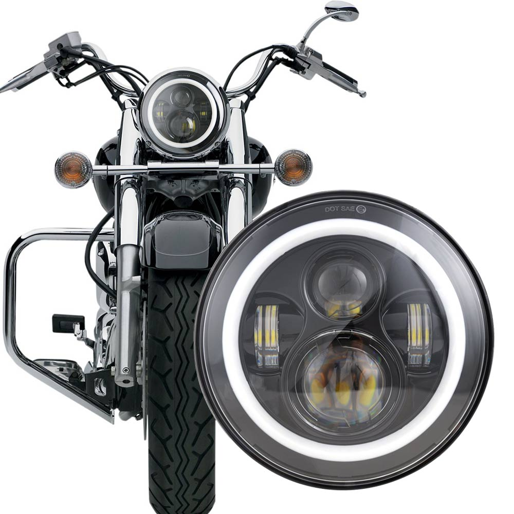 Black Modern Needles, Chrome Trim Rings Aurora Instruments 2110 Cobra White SAE Style Kit