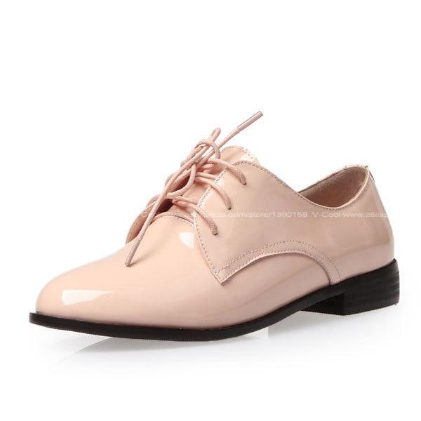 2015 Vino Nueva Para Mujeres Rosa Rojo Zapatos Oxford De Primavera rrpPC