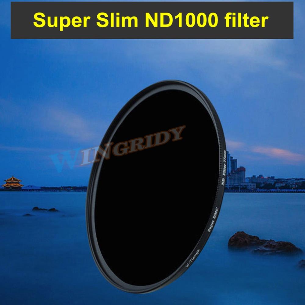 ND1000 Filter WTIANYA Super Slim Reduce Exposure nd1000 ND Filter 77mm 37 40.5 46 49 52 55 58 62 67 72 82 95mm for all DSLR Lens