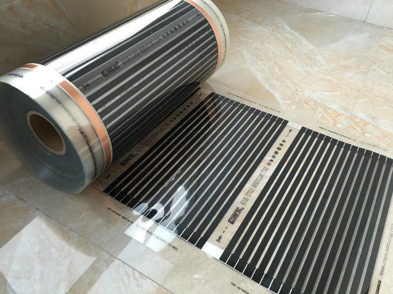 電熱フィルム 20m2 長さ 40 メートル幅 0.5 M 遠赤外線床暖房フィルムアクセサリー AC220V 、 220 W/m2 温暖化パッド  グループ上の 家電製品 からの 電気ヒーター の中 3
