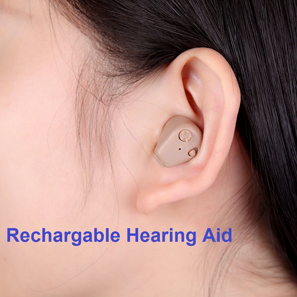 Digital Rechargeable Hearing Aid In Ear Adjustable hearing device Sound Amplifier Mini Pocket Hearing Aid for old person s 109s rechargeable ear hearing aid mini device sordos ear amplifier hearing aids in the ear for elderly apparecchio acustico