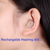 Digital Rechargeable Hearing Aid In Ear Adjustable Hearing Device Sound Amplifier Mini Pocket Hearing Aid For