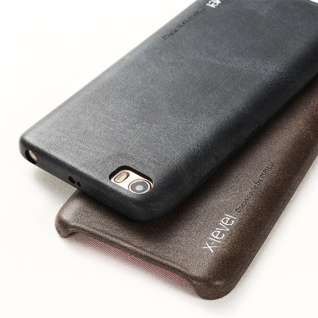 X-nível do vintage series para xiaomi mi5 casos de telefone pu couro revestido capa dura do pc case para xiaomi mi 5