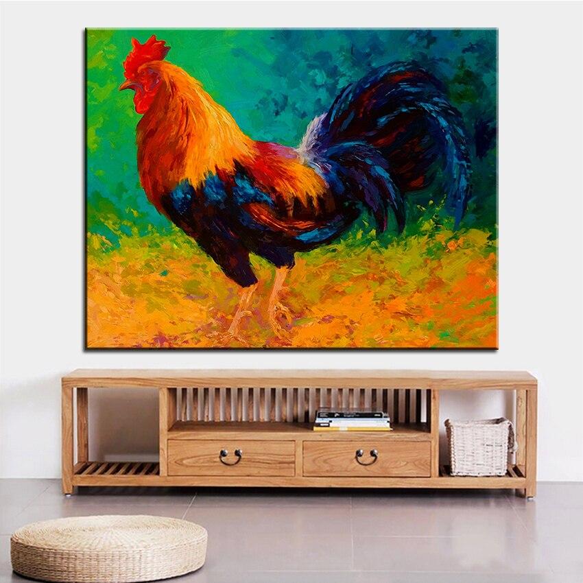 ᗑImpresión de gran tamaño pintura al óleo Mr Gallo grande pintura ...