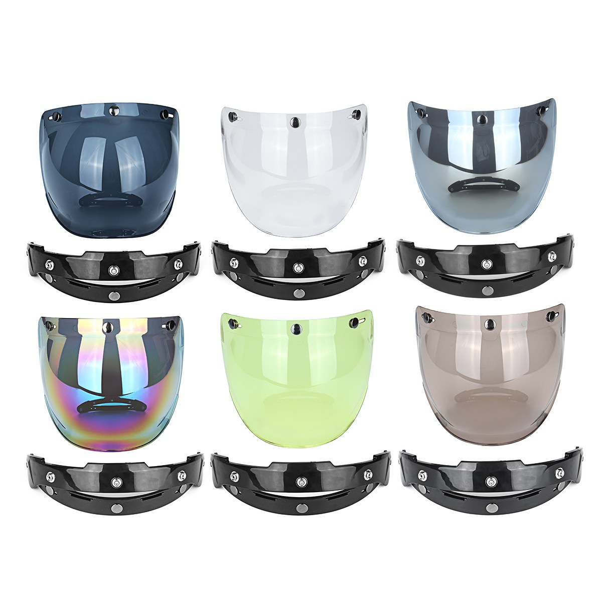 цена на Windproof Motorcycle Helmet Bubble Visor Lens Retro Motorbike Bubble Shield Mask Visor For Harley Cafe Racer