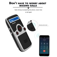 YOUCHUANGMEI A6 Solar Bluetooth handsfree car kit fm Stereo Transmitter many Language Display bluetooth speaker