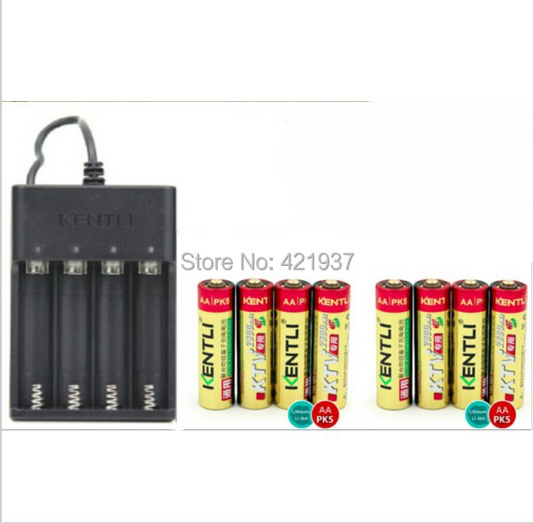 8pcsKENTLI KTV special 1.5V AA 2800mWh rechargeable lithium battery for wireless microphone rechargeable+ 4 slots USB charger8pcsKENTLI KTV special 1.5V AA 2800mWh rechargeable lithium battery for wireless microphone rechargeable+ 4 slots USB charger
