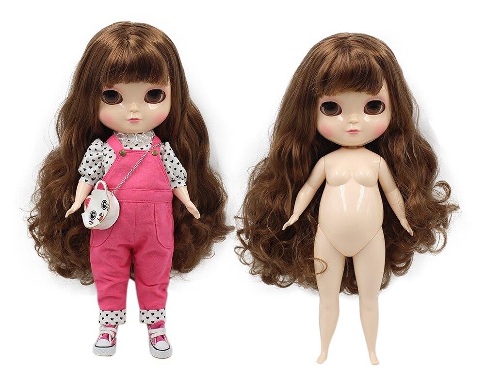 Fortune days ICY plump doll fat body long brown hair 30cm anogol glueless синтетический парик фронта шнурка long body wave brown high temperature теплостойкие волоконно париков