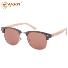 2017 New arrival sunglasses fashion men and women sun glasses handmade bamboo arms glasses hot sale 1505