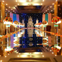 Wedding Dress Party Mirror Carpet T Stage Carpet Runner For Wedding party Banquet Backdrop Decorations 0.12mm Thick PET rugs